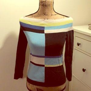 Small Sweater Block Multi Colored No tags